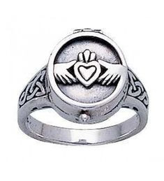 Claddagh Silver Poison Ring at Jewelry Gem Shop, Sterling Silver Jewerly Silver Jewelry Cleaner, Cleaning Silver Jewelry, Sterling Silver Jewelry, Gemstone Jewelry, Silver Ring, Poison Ring, Unique Rings, Unique Jewelry, Gem Shop