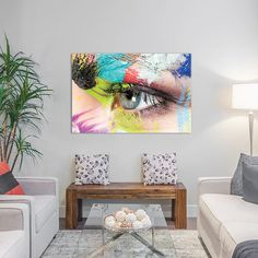 "East Urban Home Roberta's Left Eye Photographic Print on Wrapped Canvas Size: 8"" H x 12"" W x 0.75"" D"