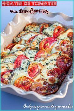 Gratin de tomates aux deux fromages via @Isabelle Quelquesgrammesdegourmandise Go Veggie, Quiche, Cauliflower, Bbq, Food And Drink, Nutrition, Vegetables, Cooking, Breakfast