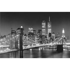 New York City Brooklyn Bridge by Henri Silberman Mini Mural Huge Poster Art Print Wall Mural