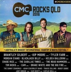 CMC Rocks 2016 Music Ok so time to start preparing for next years CMC ROCKS music festival. By preparing I[. Chase Rice, Kelsea Ballerini, Brantley Gilbert, Music Festivals, Weekend Is Over, Rock Music, Country Music, Itunes, Albums