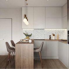 Apartment Living Room Decor Ikea Entryway 24 Ideas For 2019 Kitchen Room Design, Studio Kitchen, Modern Kitchen Design, Home Decor Kitchen, Kitchen Living, Interior Design Kitchen, Home Kitchens, Kitchen Ideas, Kitchen Small
