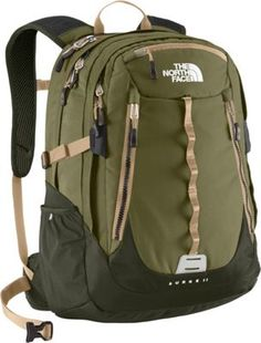 The North Face Surge 2 Laptop Backpack Burnt Olive Green/Military Green - via eBags.com!