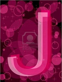 "J is for ""Judy"".... who loves the vibrant shades of Pink !!!"