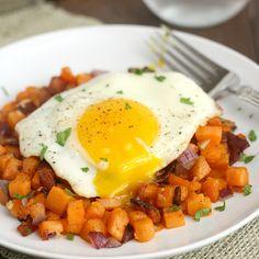 Sweet Potato and Bacon Hash