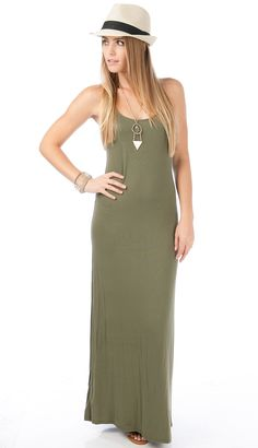 <p>This maxi dress can be worn for any occasion, pair it up with a cute fedora.</p> <p> </p> <p><strong>Details:<br /><br /></strong>-Rayon, Spandex<br />- Hand Wash Cold<br />-Made In U.S.A</p> $39.99