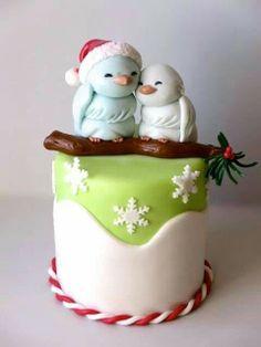 Tutoriel -> http://cake.corriere.it/2013/11/29/come-realizzare-due-teneri-passerotti-per-natale/