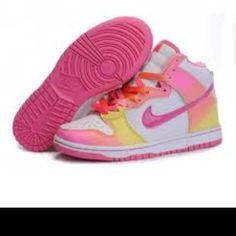 size 40 abbab 1add6 Minnie Mouse Nike High Tops Dunks Yellow Red White Shoes for sale ...