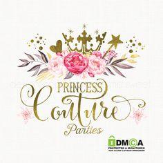 crown logo design star wand logo party logo by stylemesweetdesign