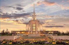 Oquirrh Mountain Utah Temple (LDS).  Robert A. Boyd from His Holy House.