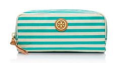 Tory Burch's Printed Coated Poplin Cosmetic Case and Stella & Dot's Pouf - Stella & Dot Look-Alikes