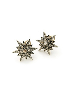 Stars earrings in 18k Noble Gold with diamonds