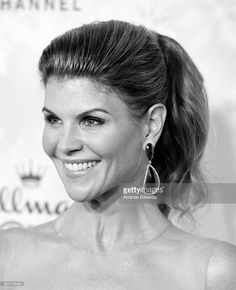 Actress Lori Loughlin arrives at the Hallmark Channel and Hallmark Movies and Mysteries Winter 2016 TCA Press Tour at Tournament House on January 8, 2016 in Pasadena, California.