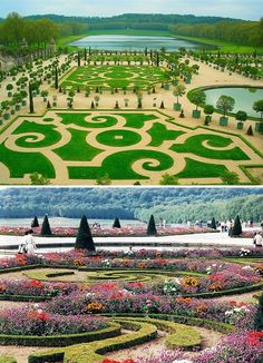 Garden in Versailles, France