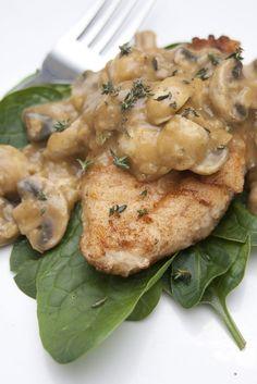 Chicken Smothered in Dijon Mushrooms supper storecupboard standby savoury easy chicken