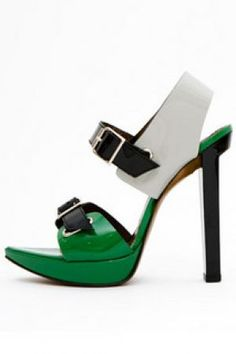 Green clothes shoes accessories - myLusciousLife.com - Marni - Patent leather sandal.jpg