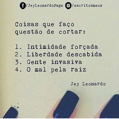 """2,294 curtidas, 21 comentários - ByNina (Carolina Carvalho) (@instabynina) no Instagram: """"Corto mesmo! Não tenho saco pra gente sem semancol... #regram @escritosmeus #frases #atitude…"""""""