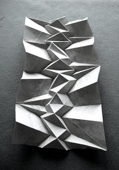 I'd like to make this 2 meters tall! andrea russo paper folding corrugation seen at pleatfarm