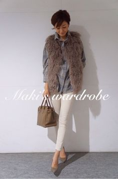 田丸麻紀『Maki's wardrobe』 in 2020 Fall Winter Outfits, Winter Wear, Autumn Winter Fashion, Fashion Fall, Daily Fashion, Everyday Fashion, Asian Fashion, Get Dressed, Her Style