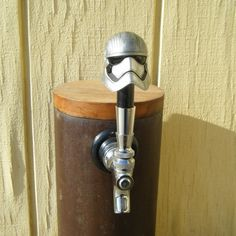 Beer Tap Handle Star Wars Captain Phasma for your draft beer tower, kegerator, or keezer.