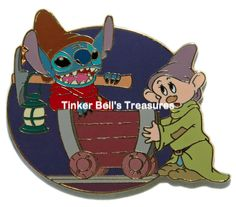 DISNEY AUCTIONS Pin LE 1000 - Stitch and Dopey