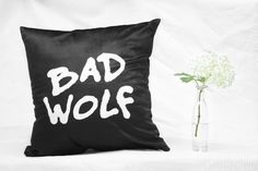 Doctor Who Bad Wolf Pillow 40 x 40 cm Bad Wolf, Doctor Who, Pillows, Products, Bed Pillows, Cushion, Cushions