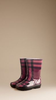 Classic Check Rain Boots | Burberry for my big girl Audrey☔