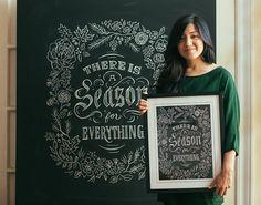 Dana Tanamachi - tipografia e handlettering na tinta lousa