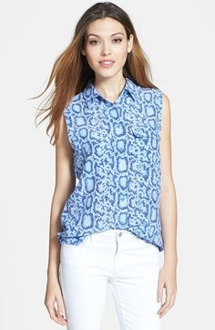 Equipment 'Slim Signature' Print Silk Top available at #Nordstrom