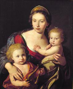 Ritratto di Caterina Valadier con i figli Giuseppe e Maria Clementina / Ritratti / Route by subject - Museo di Roma