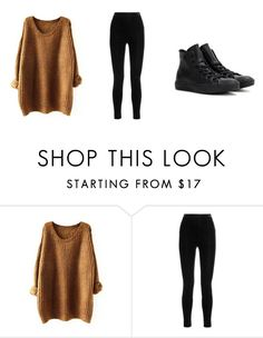 """Cozy Winter Day"" by kendrafamilette ❤ liked on Polyvore featuring Balmain and Converse"