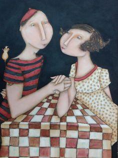 Magalie Bucher, Le rendez-vous, 70x50 cm