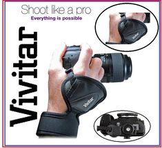 Vivitar Pro Hand Grip Wrist Strap For Nikon Pro Camera, Camera Gear, Photo Accessories, Camera Accessories, Nikon 3400, Camera Hand Strap, Photo Equipment, Leather, Cameras