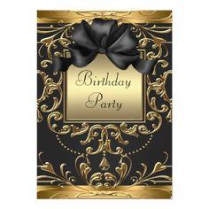 Old Hollywood Glamour Art Deco Birthday Party 13 Cm X 18 Cm Invitation Card