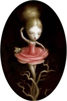 by artist Nicoletta Ceccoli from the Republic of San Marino Mais Mark Ryden, Arte Lowbrow, Italian Artist, Whimsical Art, Surreal Art, Dark Art, Amazing Art, Awesome, Fantasy Art