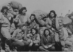 Nurses of the 8th Evacuation Hospital prepare for movement out of Casablanca in July 1943.