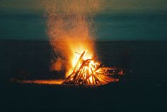 Late nights, bonefires, and friends. :) Summer is almost here.