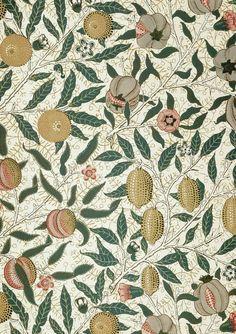 """echymosis: """" birdsong27: """"William Morris - Fruit wallpaper (detail) """" """""""