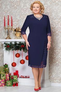 Платье Ninele, темно-синий (модель 261) — Белорусский трикотаж в интернет-магазине «Швейная традиция»