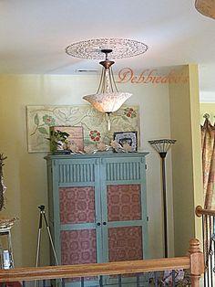Maison Blanche La Craie paint makeover with Mardi Gras Green - Computer armoire by @Debbiedoo's  #lacraiepaint #maisonblanchepaintcompany