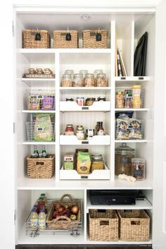 Diy kitchen pantry organization pantry organization ideas pantry organization ideas tips and tricks for an organized pantry pantry storage ideas diy kitchen Deep Pantry Organization, Pantry Storage, Kitchen Storage, Storage Spaces, Kitchen Decor, Organization Ideas, Smart Storage, Organized Pantry, Food Storage