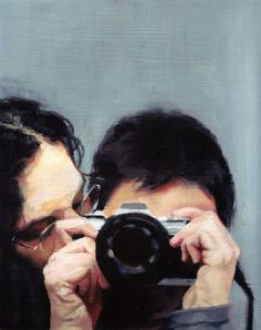 The Kiss, 2010, oil on treated wood, 25x20 cm. By Shira Glezerman