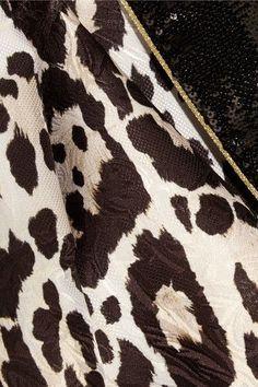 Roberto Cavalli - Sequin-trimmed Leopard-jacquard Blazer - Leopard print - IT44