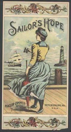 Sailors Hope Petersburg Virginia Tobacco Label