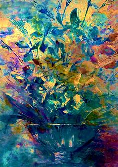 Unfinished Flower Pot, by Lisa Kaiser  Love her use of color, and the freedom of movement in her images.
