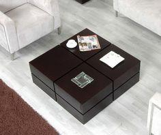 Terra Wenge Veneer Modern Coffee Table w/ Drawers -- Image 1