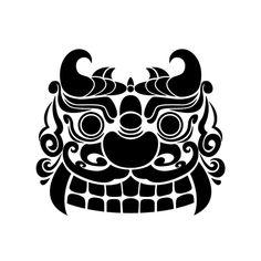 귀면기와 Japanese Drawings, Japanese Art, Japanese Kimono, Chinese Crafts, Chinese Art, Korean Traditional, Traditional Art, Vector Pattern, Pattern Design