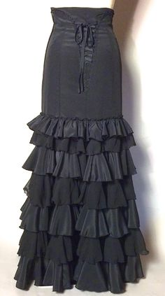 Black Flamenco Skirt TESOLO atelier Bellissima the shop http://www.rakuten.co.jp/atelierbellissima/