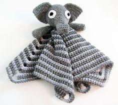 Elephant Lovey CROCHET PATTERN instant download - blankey, blankie, security…