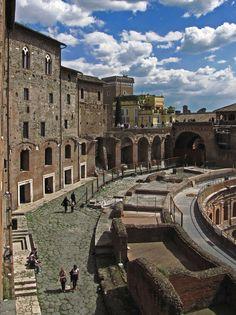 Roma - Mercati di Traiano - Via Biberatica e Grande Emiciclo, Italy